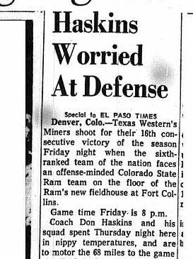 Advance game story that ran Feb. 4, 1966.