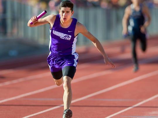 Yerington High School's Jesus Valdez finishes the Men's