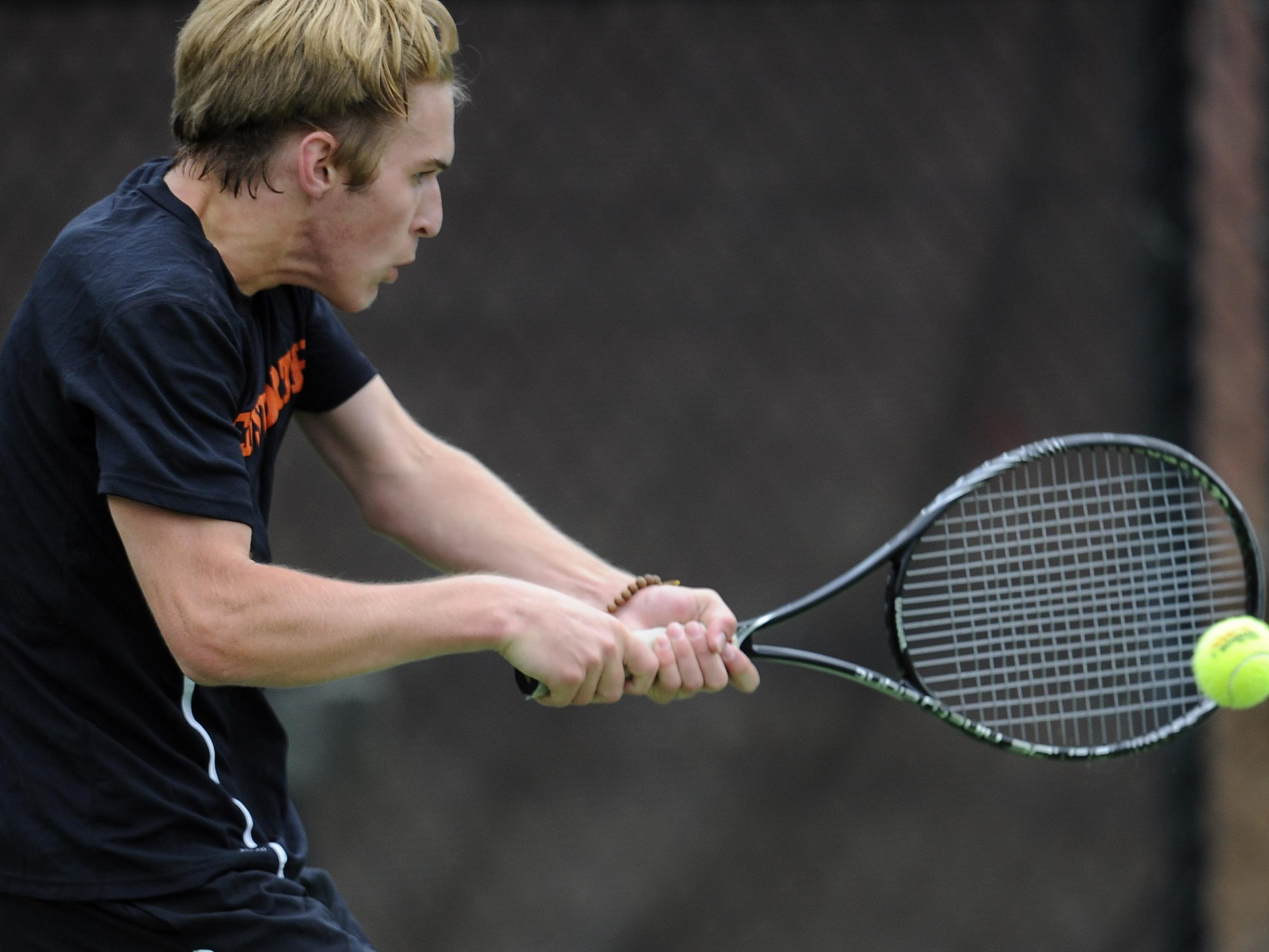 Ensworth's Miles Jackson is a second-team member of the All-Midstate boys tennis team.