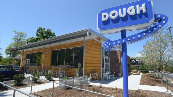 Exterior of Dough on Merrimon Avenue.
