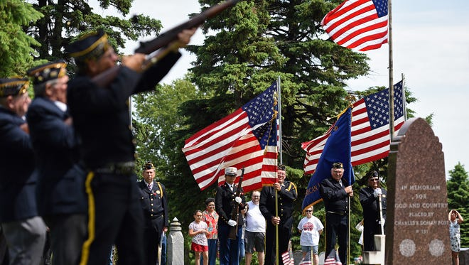 American Legion Post 131 held a Memorial Day program at Pleasant View Cemetery in Valley Springs, S.D., Monday, May 30, 2016.
