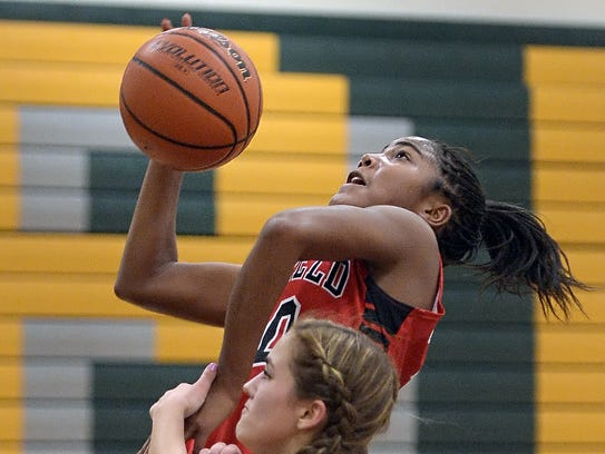 Penfield senior forward  Makaila Wilson, left, has committed to play at Division I Lafayette.