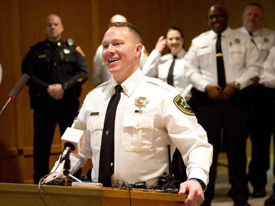 Will Lewis, is sworn in as Greenville County Sheriff