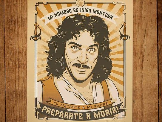 """The Princess Bride"" Inigo Montoya print at Homespun:"