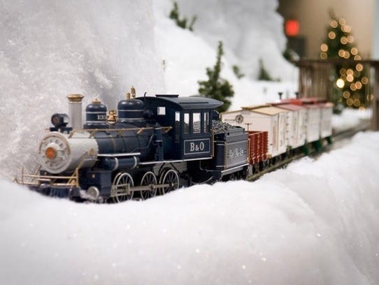 A free holiday train display is available at EnterTRAINment