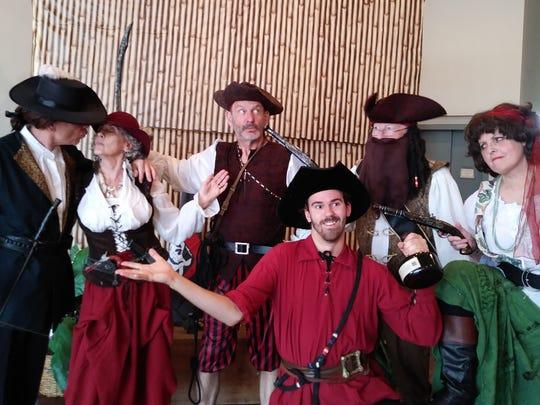 Captain Bigbeard's newly dry-docked gang of motley