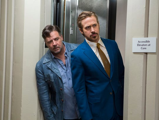 "Russell Crowe and Ryan Gosling star in ""The Nice Guys."""