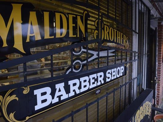Malden Brothers Barber shop on South Jackson St. in Montgomery on April 14, 2015. Nelson Malden was the Rev. Martin Luther King Jr.'s barber when King lived in Montgomery.