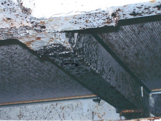 Whistleblower Chris Wall captured this image of moldy