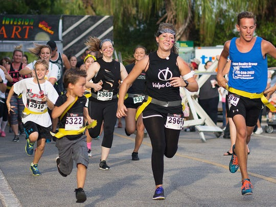 Scenes from the Cape Coral 5K Zombie Invasion run at
