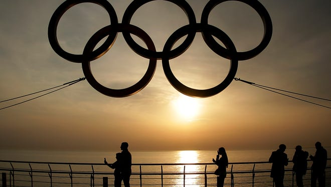 The Olympic rings at Sochi.