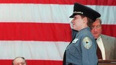 Margaret Sammarone is pictured at her graduation from the Rockland Police Academy in 1998.