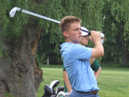 Stevenson's Connor Jakacki shot a 79 at the Division 1 boys golf regional May 31 at Dunham Hills G.C.
