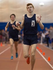 CBA's Colin Trigani takes first in the Boys Non-Public A 1600 Meter Run NJSIAA Non-Public A and B Group Track Meet  at Bennett Complex in Toms River NJ on February 18, 2017.