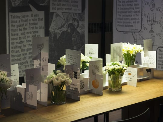 KPMB Architects put a lot of thought into their table display, decorating with captivating sayings and points of etiquette that are sure to entertain your guests.