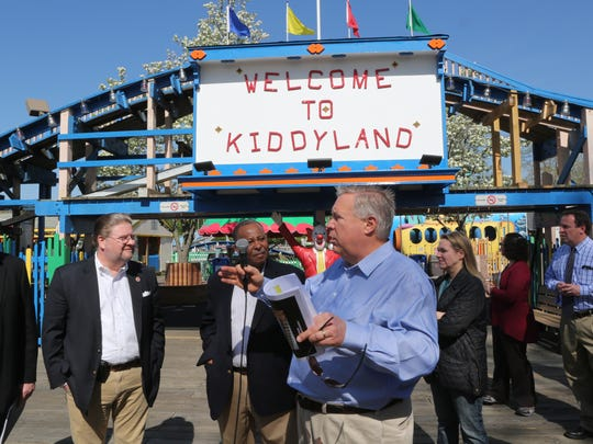 Jack Falfas, former Standard Amusements CEO, pictured at Rye Playland in a file photo.