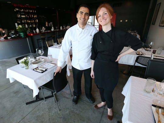 Jenna Irving and her husband, Taoufik Essaidi, prepare