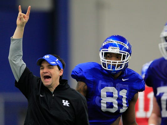 The University of Kentucky Football team practiced