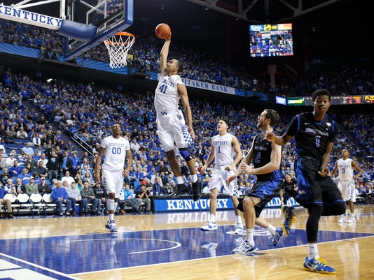 The University of Kentucky Men's Basketball team hosted Buffalo