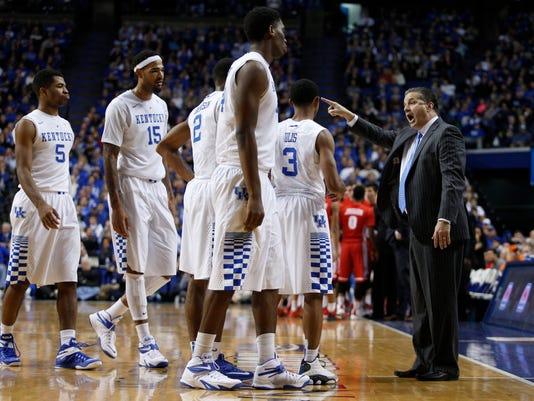 The University of Kentucky Men's Basketball team hosted Boston University
