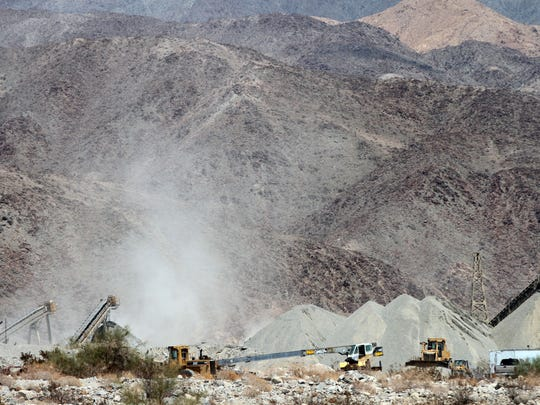 Work is underway at West Coast Aggregate Supply, Inc. on Monday, July 14, 2014 in an unincorporated area of Riverside County off Dillon Rd. near Coachella.
