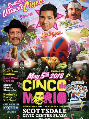 Cinco de Mario will feature food, beverages, entertainment and appearances by Mario Lopez, Frankie Quinones, Danny Trejo and The Sugarhill Gang.