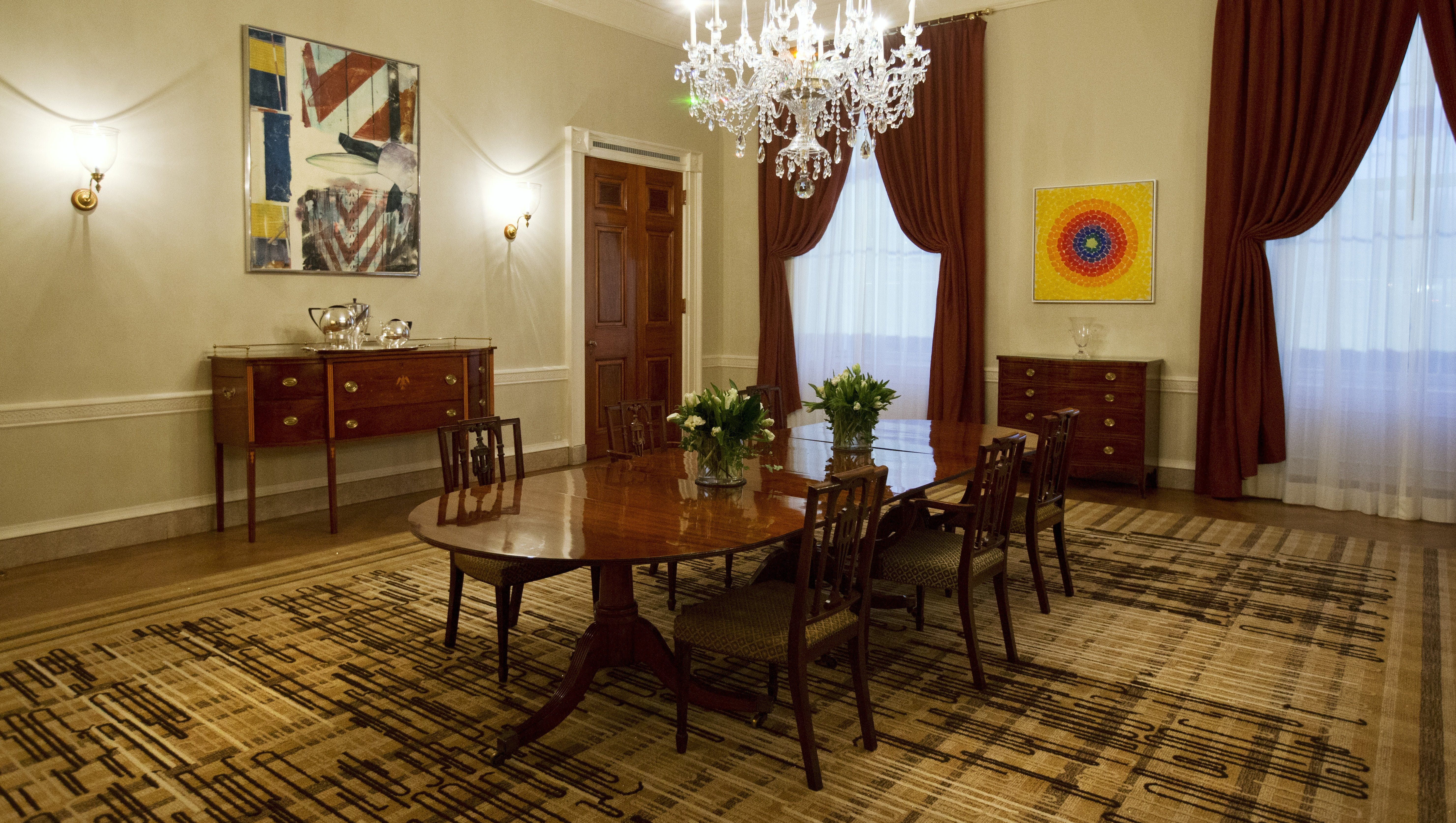 Dining Room To Public Tour, White House Family Dining Room