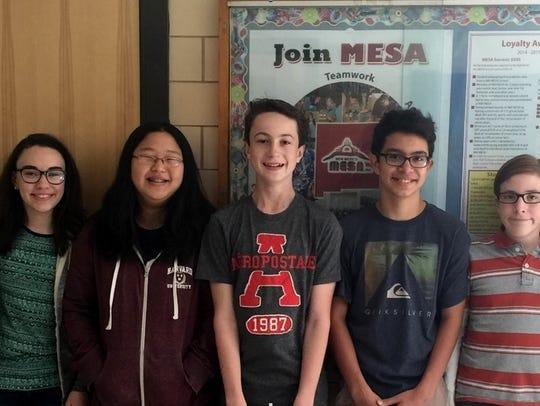 Several students from Carlsbad Intermediate School