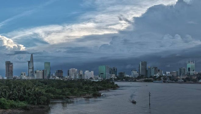 The quickly-changing skyline of Ho Chi Minh City, once known as Saigon. Photographer Alexandre Garel will release his book of photographs documenting heritage sites, and often their destruction, over the last five years.