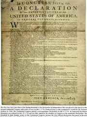 A reproduction of the Declaration of Independence.