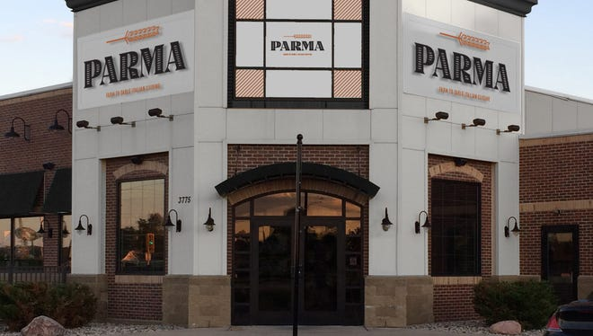 Artist's version of how the future Parma restaurant's entrance will appear.