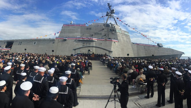 The USS Jackson was commissioned  Dec. 5 at the State Port at Gulfport.