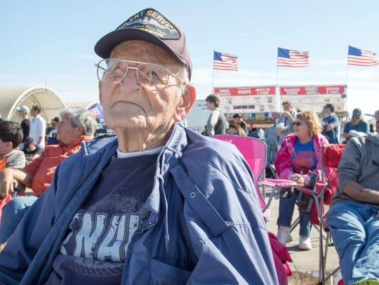 World War II Navy veteran Mel Remington, 91, of Bogalusa,