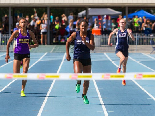 Enterprise High's Jaslyn Gardner competes in the 200