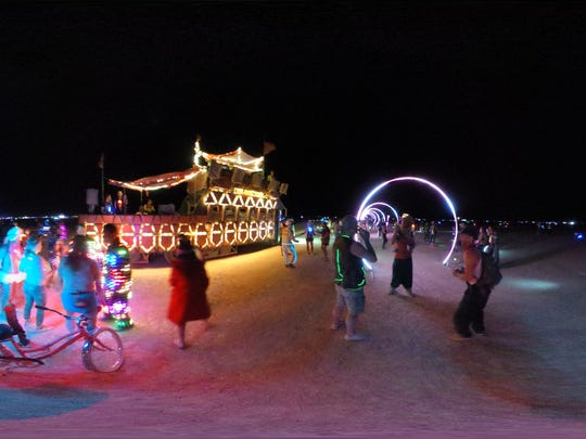 """Sonic Runway"" is a project by Rob Jensen for Burning Man 2016 ."