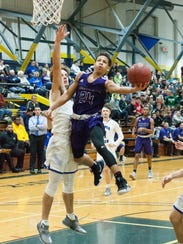 Lakeview Sophomore, Tommie Moore, goes up for a lay