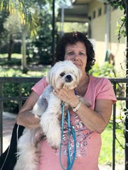 Farley is happy to go home with Lorraine Stern on adoption