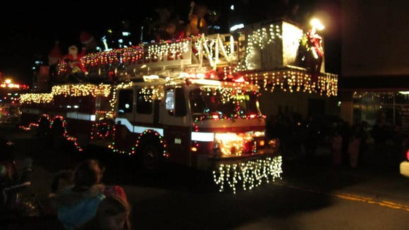 The Holiday Parade of lights is pretty spectacular.