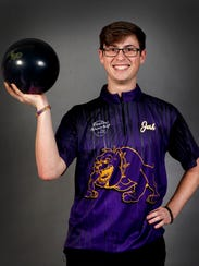 Josh Meeke a Smyrna  bowler on Thursday, March 29,