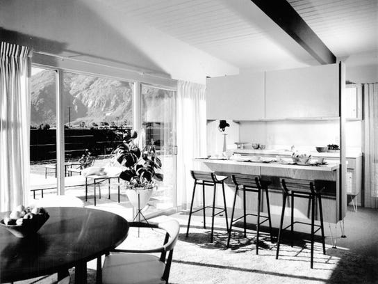 Interior of a home in the Racquet Club Estates 1959-60 designed by the architectural firm, Palmer & Krisel. File photo.
