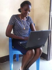 Ester Lukas, a student at the University of Dar es Salaam, received a laptop through Laptops 4 Africa, a group started by Millburn High School student Alexander McBride and his friend's father, Craig Leisher.
