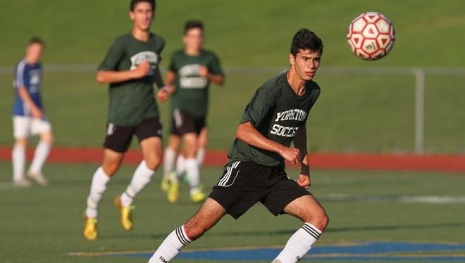 Byram Hills defeated Yorktown 1-0 in the semifinal game of the Lakeland Boys Soccer Summer League at Walter Panas High School in Cortlandt July 28, 2015.