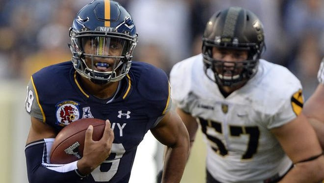 Former Goodpasture quarterback Keenan Reynolds became a record-setting quarterback at Navy.