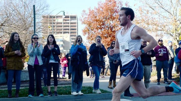 Andrew Crowell was the overall winner of the 2017 Asheville Turkety Trot 5K in 16 minutes, 15 seconds.