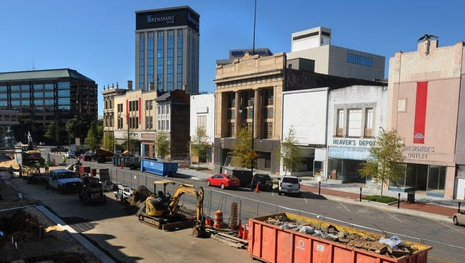 Ongoing projects on and around Dexter Ave. in downtown Montgomery, Ala. on Wednesday October 22, 2014.