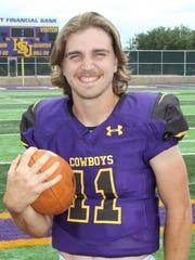 HSU quarterback Landry Turner