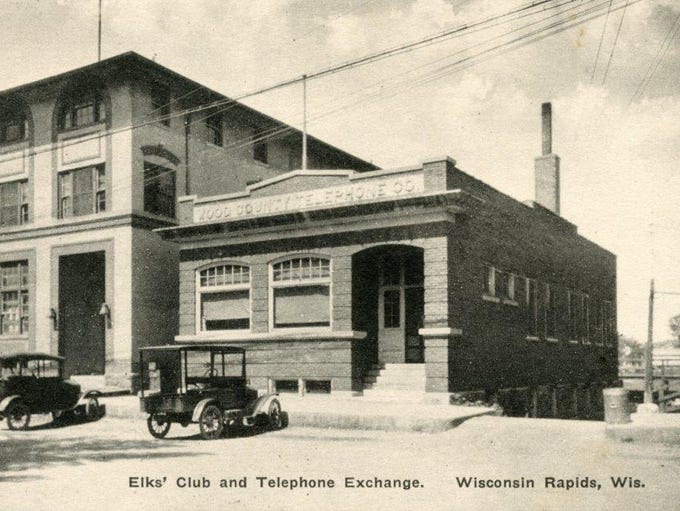The Elks' Club and Wood County Telephone Company. The