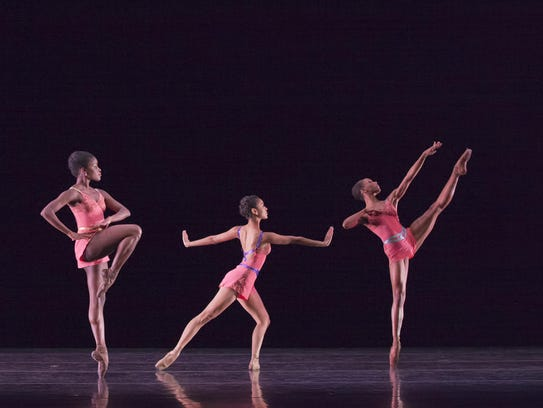 "The Dance Theatre of Harlem, pictured performing ""Vessels."""
