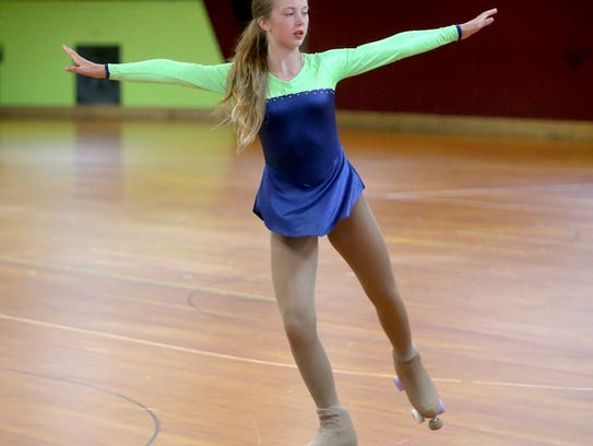 Kylie Root, 12, of Bremerton is one of six roller figure