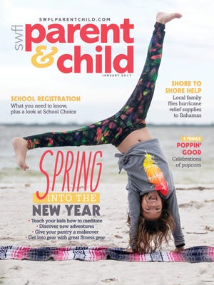 Sophia Valentine, 10 of Cape Coral, modeled for the January cover of SWFL Parent & Child magazine.